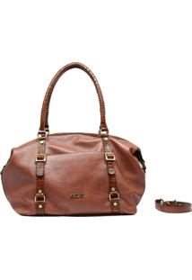 Bolsa De Couro Recuo Fashion Bag Sacola Goiaba