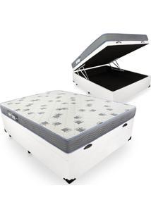 Cama Box Com Ba㺠Casal + Colchã£O De Espuma D33 - Ortobom - Light 138X188X59Cm Branco - Azul/Branco/Cinza/Marrom/Preto - Dafiti
