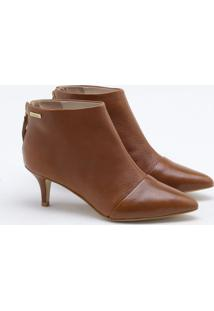 Ankle Boot Couro Tabacco