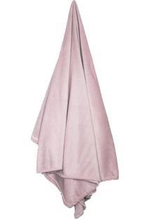Cobertor Flannel Loft De Casal- Rosa Claro- 180X220Ccamesa
