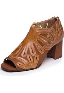 Sandália Mzq Ankle Boot - Tamarindo / Capuccino 6004