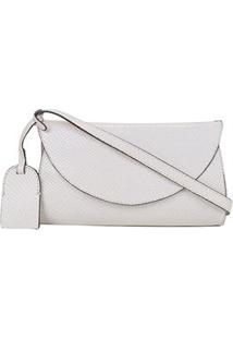 Bolsa Pochete Couro Shoestock Feminina - Feminino-Off White