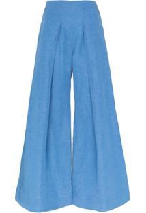 Cult Gaia Calça Pantalona Jordana - Azul