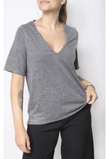 Camiseta Gola V Superfluous Eco Cinza - Kanui
