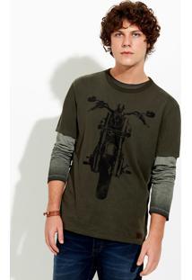 Camiseta Masculina Slim Em Malha Super Touch