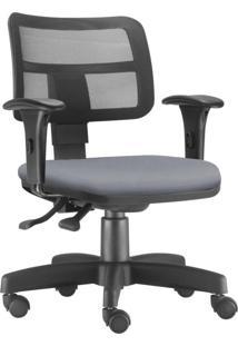 Cadeira Giratã³Ria Executiva Lyam Decor Zip Corino Cinza - Cinza - Dafiti