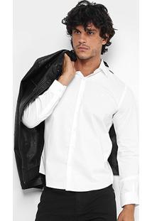Camisa Ellus Tricoline Italiana Slim Masculina - Masculino