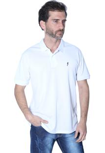 Camisa Polo Mister Fish Clássico Sea Horse Branco
