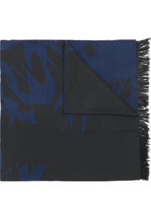 R  1409,00. Farfetch Mcq Alexander Mcqueen Echarpe Estampada - Azul 9ecfd7e7f79
