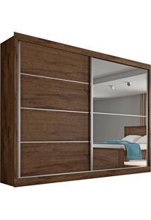 Guarda Roupa Flex 2 Portas Com Espelho Verona Plus– Made Marcs - Brauna / Off White / Brauna