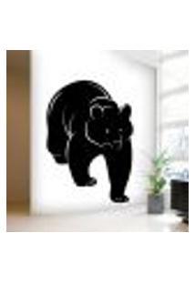 Adesivo De Parede Animais Urso - P 48X35Cm