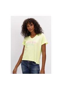 T-Shirt Decote V Lança Perfume T-Shirt Verde