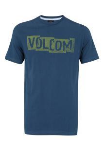 Camiseta Volcom Silk Edge - Masculina - Azul