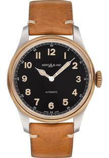 0ae8219ae6b ... Relógio Montblanc Masculino Couro Marrom - 116241