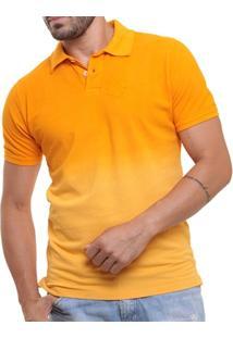 Camisa Polo Oitavo Ato Stone Washed Lisa Degradê - Masculino
