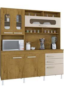 Cozinha Compacta Mônaco 5 Pt 3 Gv Canelato E Natural