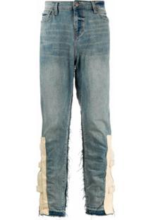 Val Kristopher Calça Jeans Com Bolso E Zíper - Azul