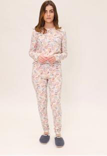 Pijama Legging Feminino Mon Cheri Lua Luá Estampado - Tricae
