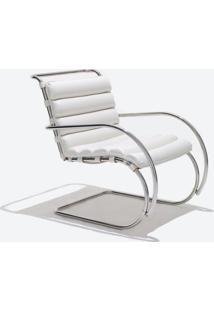 Cadeira Mr Cromada (Com Braços) Couro Branco C