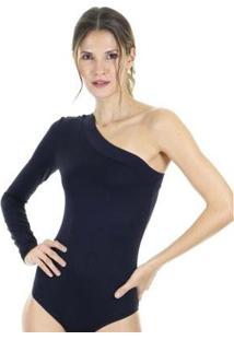 Body Aha Liso Com Decote Ombro Só E Modelagem Ajustada Feminino - Feminino