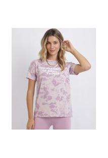 "Blusa Feminina Estampada Tie Dye Amazing Things"" Manga Curta Multicor"""