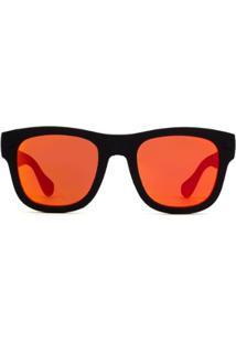 Óculos De Sol Havaianas Paraty/M O9N/Uz-50 Masculino - Masculino-Preto+Vermelho