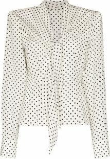 Dolce & Gabbana Blusa De Poás Com Laço - Branco