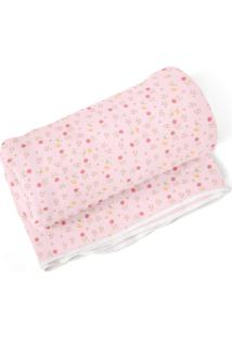 Cobertor Era Uma Vez Para Menina Em Algodão 70 X 90Cm Rosa