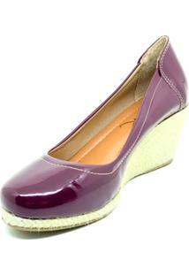 Sapato Anabela Salto Corda Dani K Vinho