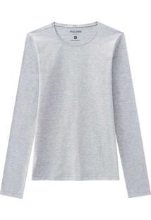 Camiseta Feminina Malwee 1000026304 50000-Cinza-Cl