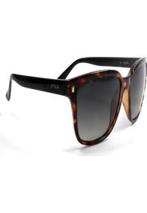 Óculos De Sol Jf Sun Pathy-Tartaruga Marrom-Fumê - Kanui