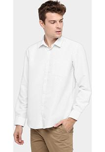 Camisa Bluebay Poá Regular Fit Bolso - Masculino