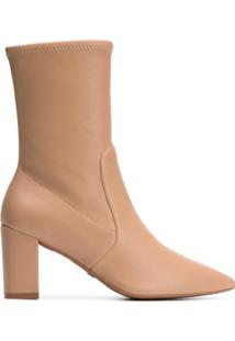 Stuart Weitzman Sock Ankle Boots - Neutro