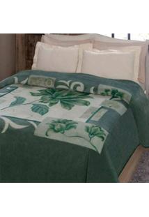 Cobertor Cama Casal Jolitex Kyor Malbec Verde 1,80X2,20M