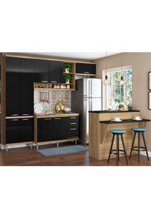 Cozinha Compacta Sem Tampo 5 Peças 5844 Sicília - Multimóveis - Argila / Preto