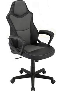 Cadeira Office Gamer Rush-Rivatti - Cinza / Preto