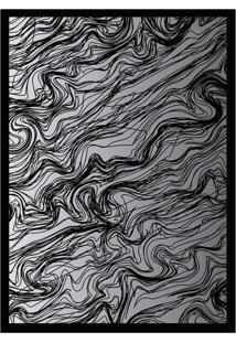 Quadro Com Moldura Rascunho Preto E Cinza (45X32)