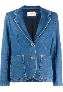 Tory Burch Blazer Jeans Slim - Azul