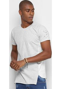 Camiseta Gangster Recortes Masculina - Masculino