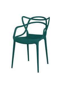 Cadeira Master Allegra Polipropileno Verde Petroleo - 34297 Verde