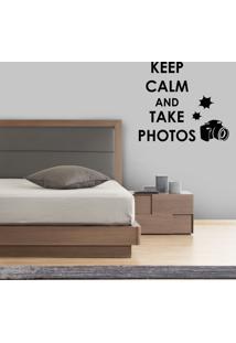 Adesivo De Parede Keep Calm And Take Photos