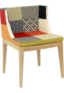 Cadeira Senhorita- Preta & Bege- 73X50X42Cm- Or Or Design