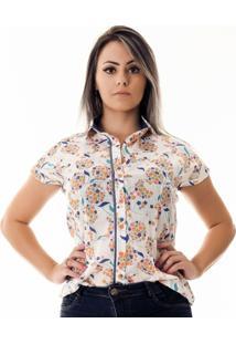 Camisa Pimenta Rosada Adriennefloral - Feminino