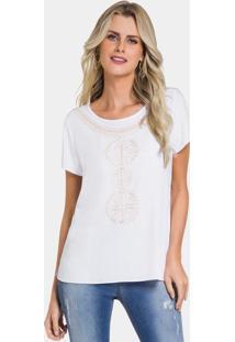 Blusa Branco Lunender