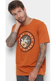 Camiseta Rusty Silk Trade Masculina - Masculino-Laranja