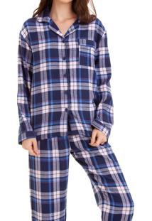 Pijama Flanela Feminino Xadrez (922) 100% Algodão