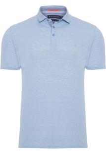 Polo Masculina Jersey - Azul Claro