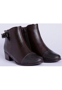 Bota Ankle Boot Feminina Comfortflex Marrom