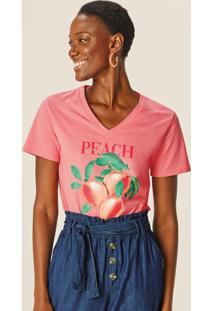 Blusa Rosa Claro Peach Lovers Decote V