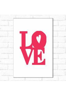 Placa Decorativa Love Pink